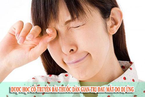 Dược học cổ truyền bài thuốc dân gian trị đau mắt do dị ứng