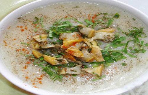 Món ăn chữa bệnh từ cháo trai