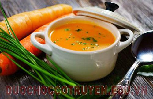 Món ăn bài thuốc súp cà rốt