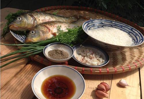 Nguyên liệu nấu cháo cá chép