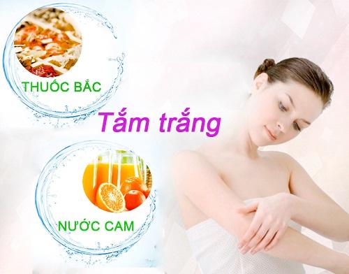 Tắm trắng da bằng thuốc bắc và nước cam giúp chống lão hóa da