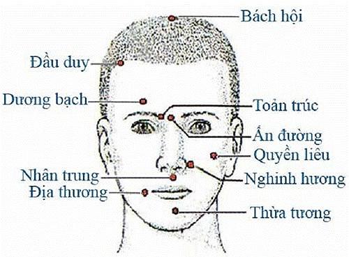 Bấm huyệt điều trị liệt thần kinh mặt trong Y dược
